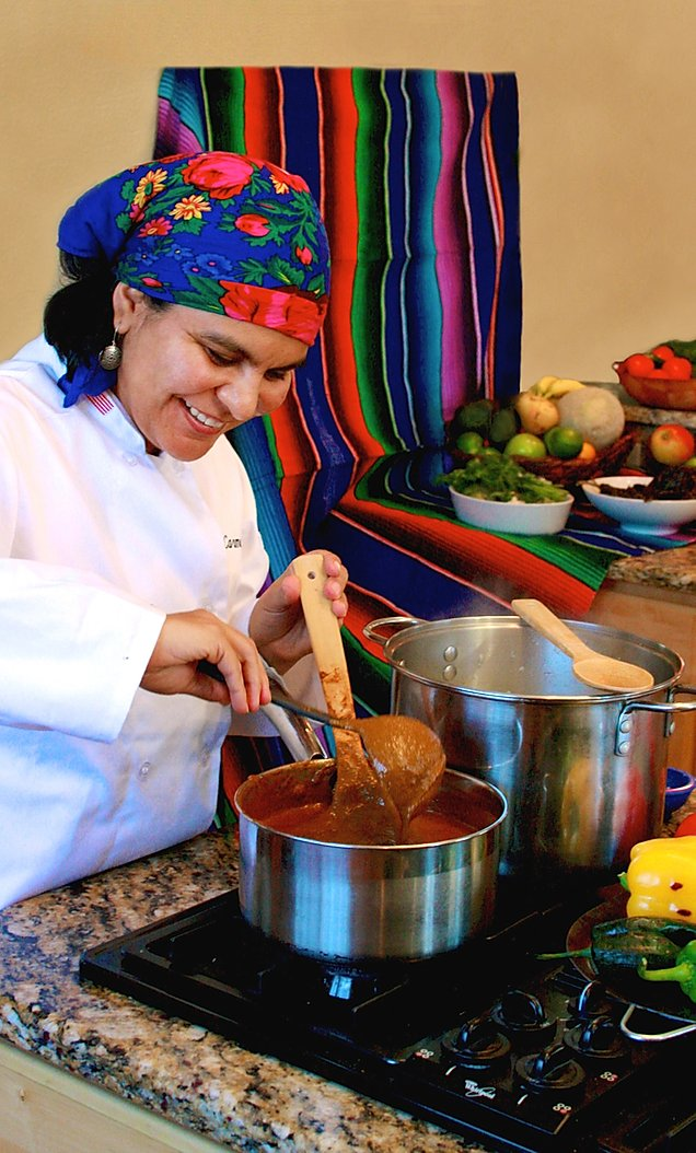 Carmen Pacheco-Borden making mole