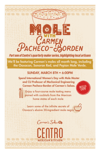 Mole with Carmen Pacheco-Borden