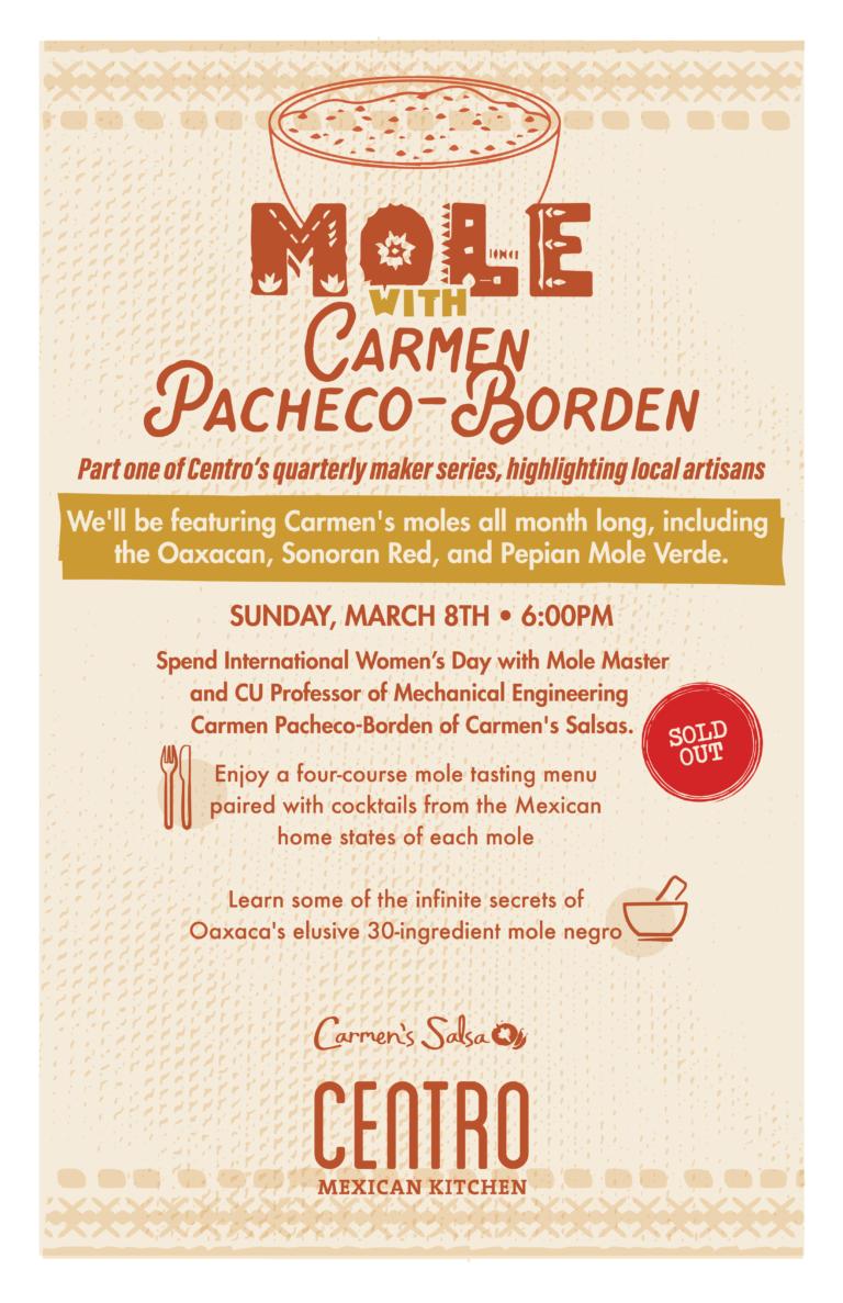 Mole with Carmen Pacheco-Borden